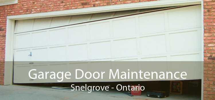Garage Door Maintenance Snelgrove - Ontario