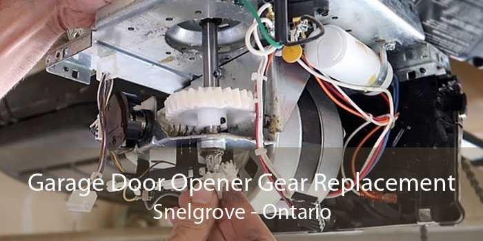 Garage Door Opener Gear Replacement Snelgrove - Ontario