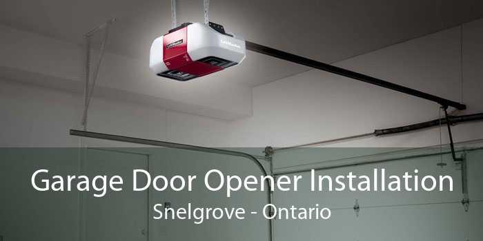 Garage Door Opener Installation Snelgrove - Ontario
