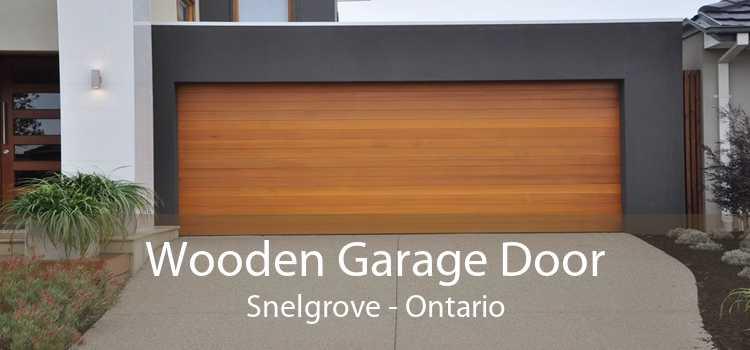Wooden Garage Door Snelgrove - Ontario