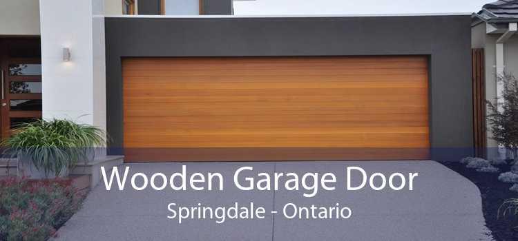 Wooden Garage Door Springdale - Ontario
